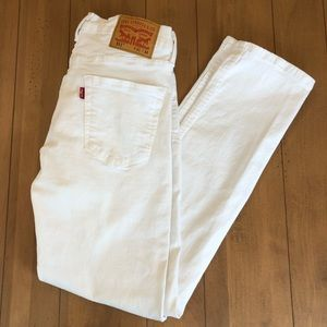 Men's 511 slim Levi's white jeans Like New 31x32